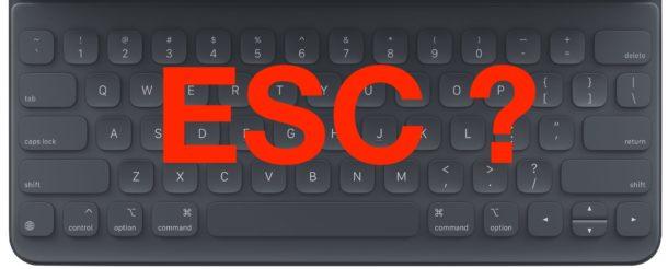 How to press ESC escape key on iPad