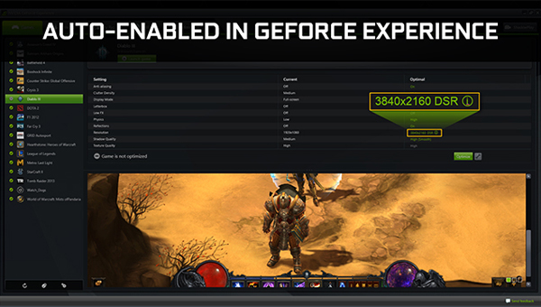 DSR, GeForce Experience