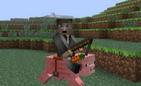 Как управлять свиньей с помощью морковки