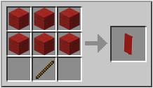 Как сделать красный флаг в Майнкрафте