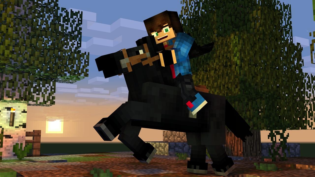 лошадь в Minecraft