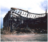 Single storey building after fire.png